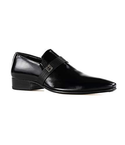 Carlo Pignatelli Mocasín para Hombre Negro Cepillado 26Z8184 Made in Italy Size: 44 EU