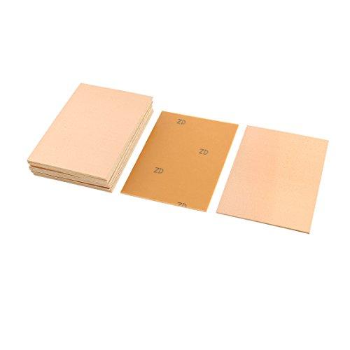 sourcingmap® 15Stk 100x70x1.5mm FR4 einseitig Kupfer plattiert Laminat PCB Leiterplatten de