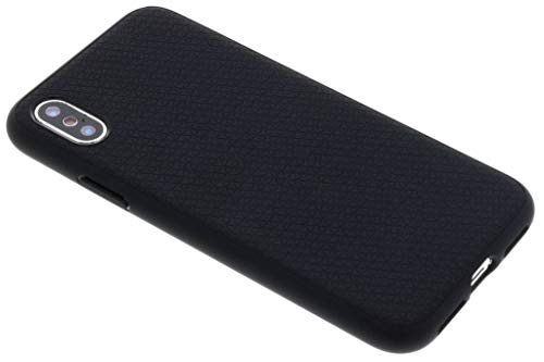 Spigen Liquid Air Cover iPhone XS, 5.8 inch Cover iPhone X con disegnabilità Durevole e Design Facile per Apple iPhone XS (2018) / iPhone X (2017) - Matte Black