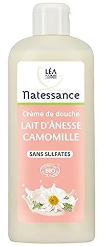 Natessance Hygiène Douche Crème Lait D'anesse Camomille sans Sulfates - Bio - 500 ml