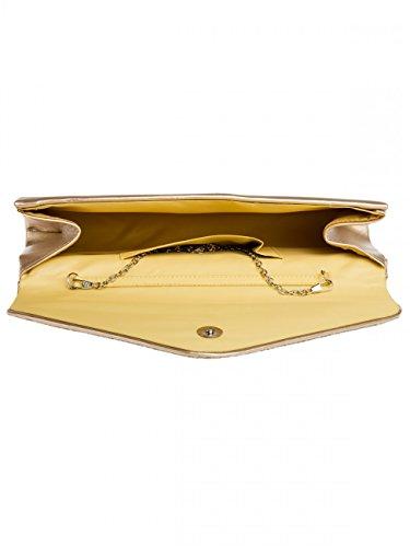 CASPAR TA332 Donna Pochette a Busta con Brillantini Oro