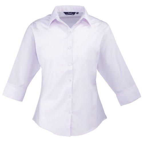 Premier Workwear Ladies Poplin 3/4 Sleeved, Blouse Femme Rouge