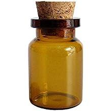 12 piezas 5 ml pequeña botella de boca ancha tarro de cristal Mini deseo botellas mensaje