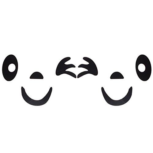 Cara de la sonrisa Diseño etiqueta engomada 3D,Longra decoración del coche del espejo retrovisor lateral (Negro)