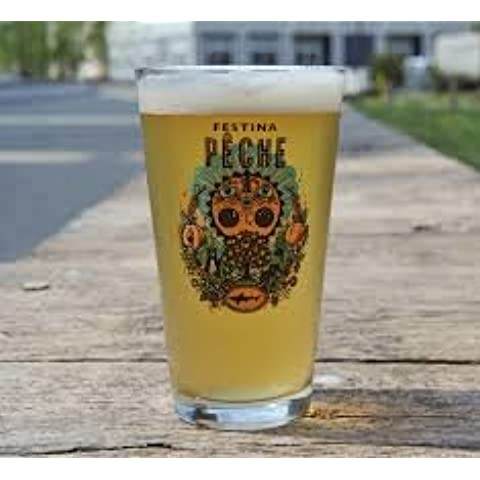 Dogfish Head Craft Brewed Ales - Festina Peche Pint Glass by Dogfish Head