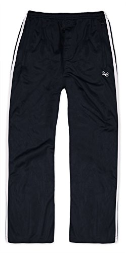 Generic 2 Stripe Boys Sports Tracksuit Bottoms Black 11-12 Years
