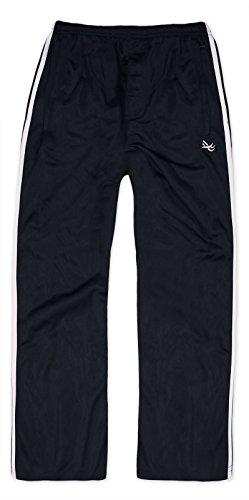 Generic 2 Stripe Boys Sports Tracksuit Bottoms Black 11-12 Years