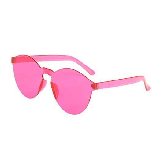 Yncc Rahmenlose Transparente Brille Europa Und Amerika Candy Color Paar Sonnenbrille-8 Farben, UV400 Anti-UV,Zum Fahren, Radfahren Und Für Alle Outdoor-Aktivitäten (PK)