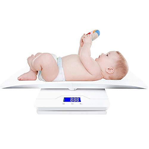 Ayanx Digital Baby Balance für 100 kg / 10 g Erbsen und Körpergröße für Tierbabys Unternehmen Balance Fultifunction Auto Hold Kg/oz/lb Weiß