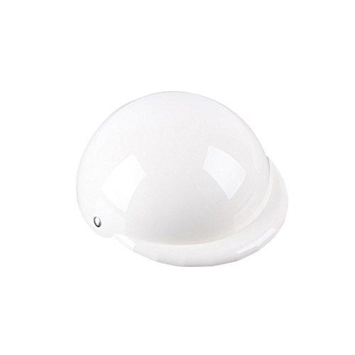 PanDaDa, casco per cani, da moto e bici, per proteggerlo da sole e pioggia … (S, Bianco)