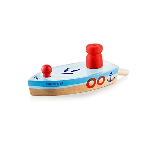 DONKEY Products Ballon Pusters Cruiser 88, Holzboot, Holz Schiff, Spielzeug, 900211