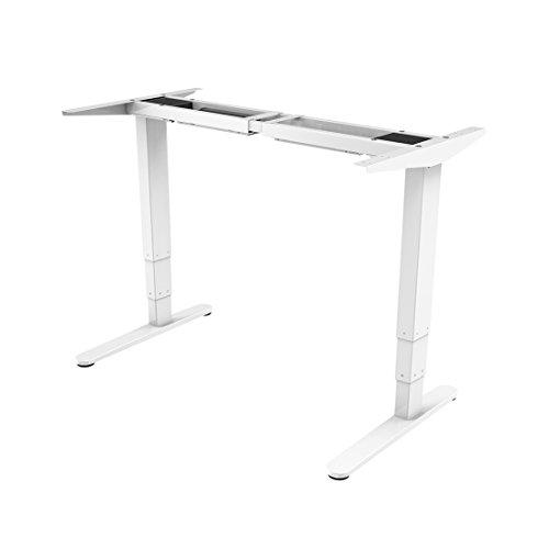 Flexispot E5W Höhenverstellbarer Schreibtisch Elektrisch höhenverstellbares Tischgestell, 3-Fach-Teleskop, passt für alle gängigen Tischplatten. Mit Memory-Steuerung und Softstart/-Stop - Ohne Stuhl Armlehnen Schreibtisch Weiß