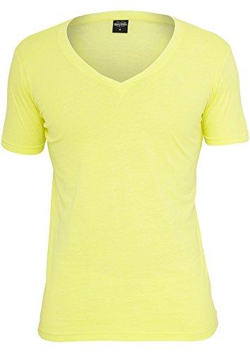 Urban Classics Neon V-Neck Tee Yellow