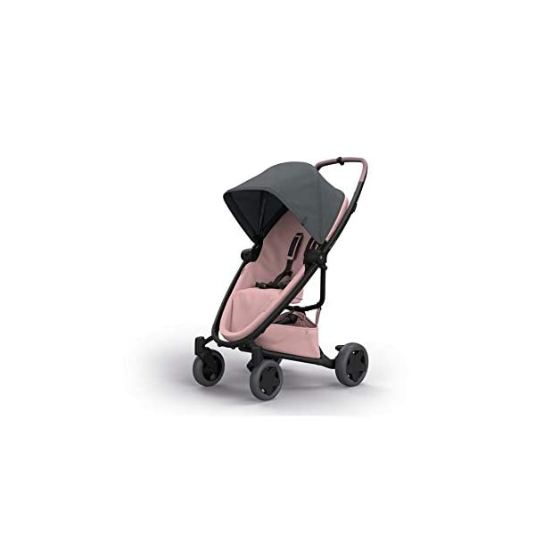 Quinny Zapp Flex Plus Urban Pushchair, Graphite on Blush Quinny Can be used from birth when combined with quinny from-birth cocoon or a maxi-cosi baby car seat (sold separately) This flexible pushchair features a two-way seat that fully reclines in both directions Closed push bar allows for easy one-hand pushing 1