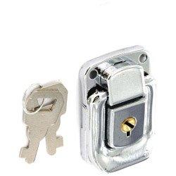 Vernickelt Fall Lock & 2Schlüssel Truhen Koffer 6606