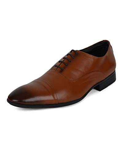 Ziraffe FAMOS Genuine Leather Tan Men's Formal Shoes (10 UK)