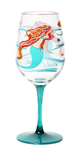 C.R. Gibson Lolita Acrylic Wine Drinkware (Set of 2), Mermaid, Multicolor by C.R. Gibson Acryl Drinkware Sets