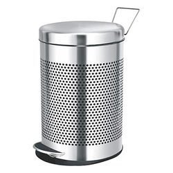 "Mofna  Stainless Steel Perforated Pedal Dustbin 5 Litre (7""x10"")"