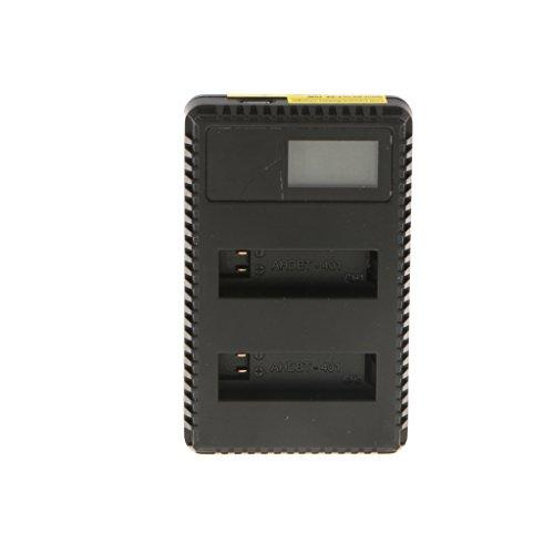 Preisvergleich Produktbild Sharplace Smart Batterieladegerät Dual Slots Ladegerät Zwei Batterien gleichzeitig Aufladen HD LCD Display USB Lader für GoPro Hero 4 actioncams