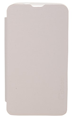 iCandy™ Soft TPU Non Slip Back Shell PU Leather Hybrid Flip Cover For Nokia Lumia 530 - WHITE  available at amazon for Rs.195