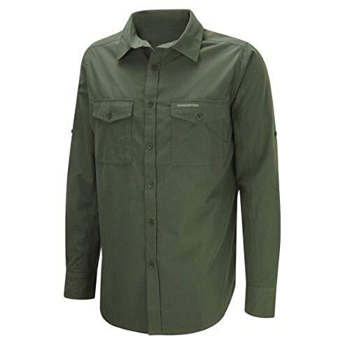 Craghoppers Herren Outdoor Reise Kiwi Langarm Hemd, grün(Cedar),S