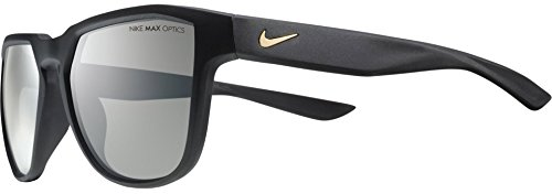 Nike Golf Fly Swift Sunglasses, Matte Black/Gold Frame, Dark Grey Lens image