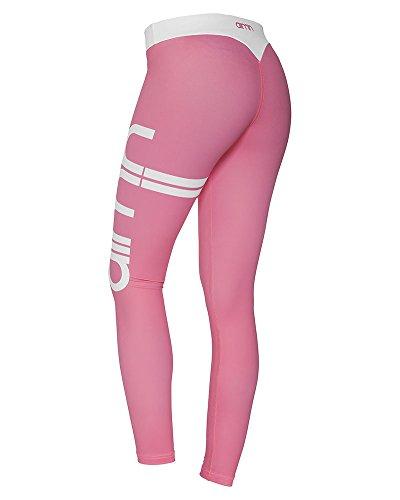 Femme Leggings de Sport Long Imprimés Pantalon de Yoga Jogging Fitness pink