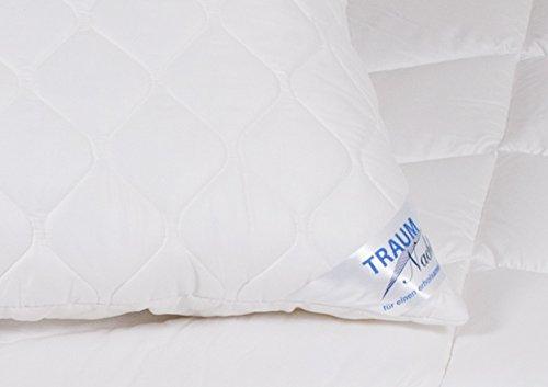 Traumnacht 3-Star Kopfkissen, weich und bequem aus softer Microfaser, 40 x 80 cm, waschbar, weiß - 2