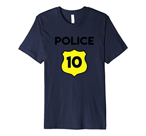 Polizei Kostüm 10. Geburtstag T-Shirt Tenth Zehn 10Jahre -