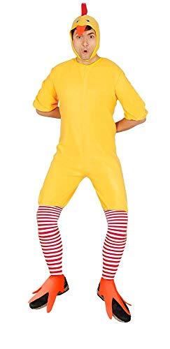 tüm für Erwachsene Overall Mütze Strümpfe Stulpen Fleece Huhn Hahn Tier-Kostüm Bauernhof Karneval Damen Herren, Größe:M ()