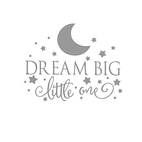 ljmljm 42x53cm Noir Dream BIG Petite pépinière d'étoiles de Lune sculpté Stickers muraux décoratifs