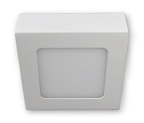 6 W LED Aufbauleuchte Lampen Deckenspot 230 V Eckig - Weiss
