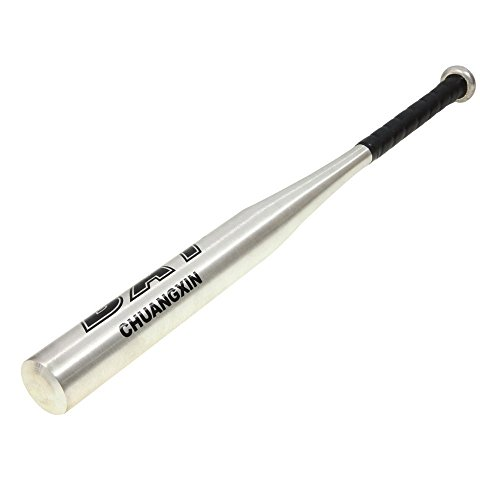 Cindio Baseballschläger Baseball Schläger aus Aluminium Legierung 25 Zoll / 30 Zoll / 34 Zoll in versch. Farben (silber, 25 Zoll (63,5 cm)) -