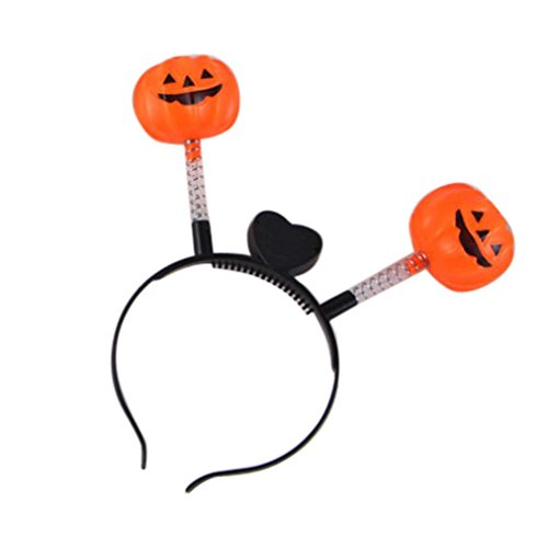 FEITONG Halloween LED Kürbis Schädel Licht Party Stützen Stirnbänder (16*11cm, (Für Mädchen Kostüme Teenager Holloween)