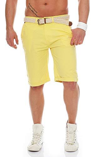 Geographical Norway - Pantalón Corto - para Hombre Amarillo Medium
