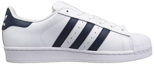 Adidas Superstar White Black Womens TrainersC77153 White/Collegiate Navy/Metallic/Gold