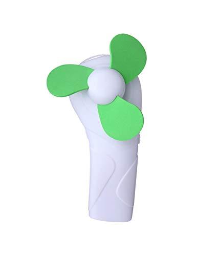CYRZP Sommer Tragbare Süße Mini Fan Sponge Blade Batterie Elektrische Taschenlampe Handheld Taschenlampe Fan
