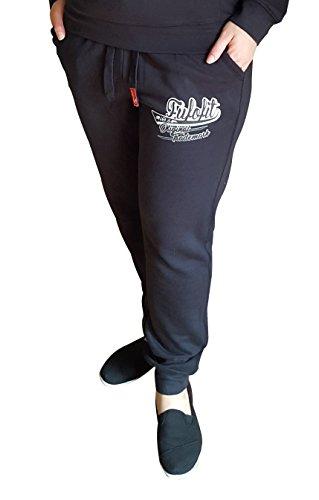 Damen Jogger Bottoms Frauen Trainingsanzug Hosen Cuffed Jersey Sweatpants Größen S M L XL XXL von James und Paul (XXL (48-50), schwarz) (Short Damen Cuffed)