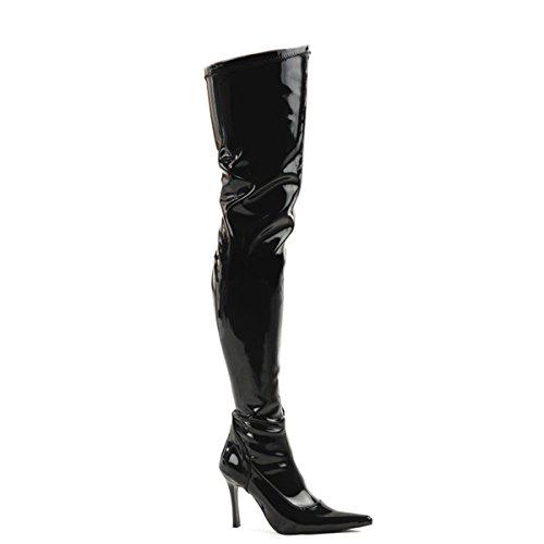 Higher-Heels Funtasma Overknee-Stiefel Lust-3000 Lack schwarz Gr. 39