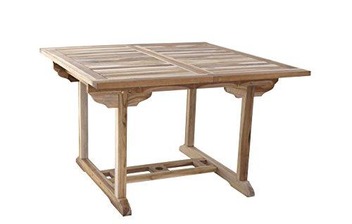 SAM Teak Holz Gartentisch, Balkontisch, 120 170 X 120 Cm, Massiver, Ausziehbarer  Holztisch, Ideal Für Ihren Balkon Oder Garten [53262604]
