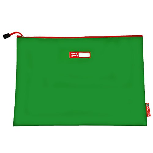 Rough enough tarpaulin classic durable big portadocumenti con cerniera importante, con supporto buste formato a4cartellina con tasca accessori organizzatore per scuola viaggi d' affari