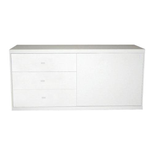 Phoenix 158202WE Sideboard mit 1 Schiebetuere und 3 Schubladen