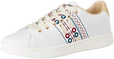 Desigual Shoes Cosmic New Exotic, Zapatillas para Mujer, Blanco (Blanco 1000),