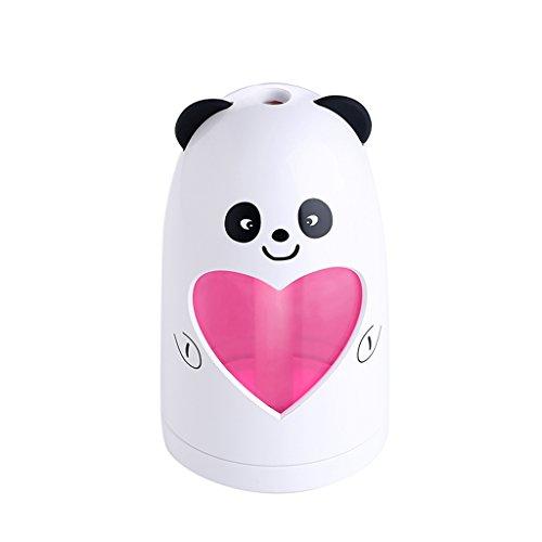 QIHANGCHEPIN Mini USB Nette Luftbefeuchter Stille Ultraschall Diffuser Nebelhersteller Bunte Ändern LED Nachtlicht für Home Office Auto Luftbefeuchter (größe : Panda) (Ultraschall-große Luftbefeuchter)