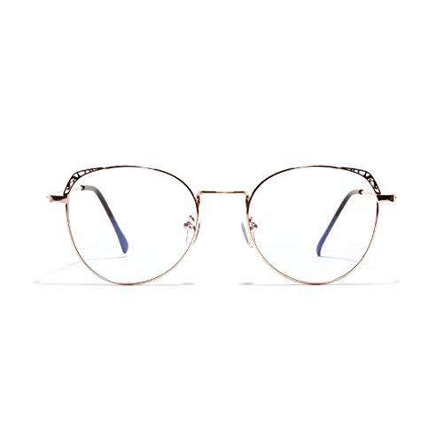 WULE-RYP Polarisierte Sonnenbrille mit UV-Schutz Mode hohlen Cat Eye Brillen, klare Linse für Frauen Superleichtes Rahmen-Fischen, das Golf fährt (Farbe : Rose Gold)