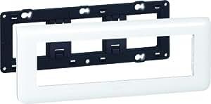 Legrand LEG99678 Plaque support pour 8 modules Mosaic