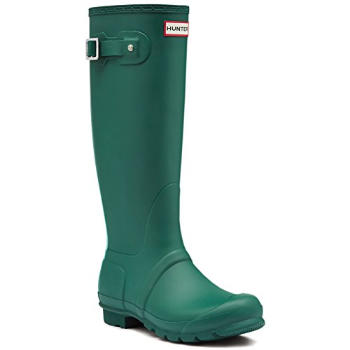 Hunter Damen Original Stripe Ziehen Sie An Gummistiefel Wellies Stiefel - Dunkelheit Malachite/Tourmaline Green - 38 (Green Hunter Stripe)