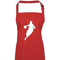 Cocodrilo Delantal Baloncesto Jugador de baloncesto BBL NBA, tela, rojo, 72 cm x 86 cm