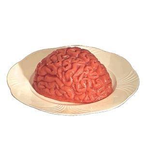 Cerebro humano molde de gelatina para Halloween Party Prop, jardín, césped, Mantenimiento