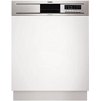 AEG F55600IM0P Semi intégré 13places A++ lave-vaisselle - Lave-vaisselles (Semi intégré, Noir, Acier inoxydable, boutons, panier, 13 places, 46 dB)